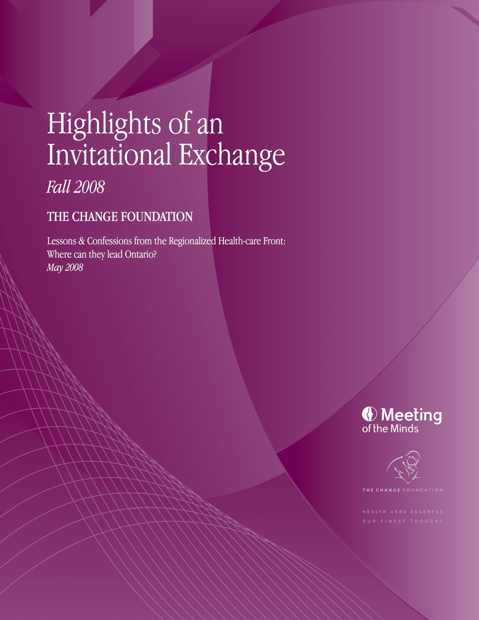 "Report cover for ""Highlights of an Invitational Exchange"""