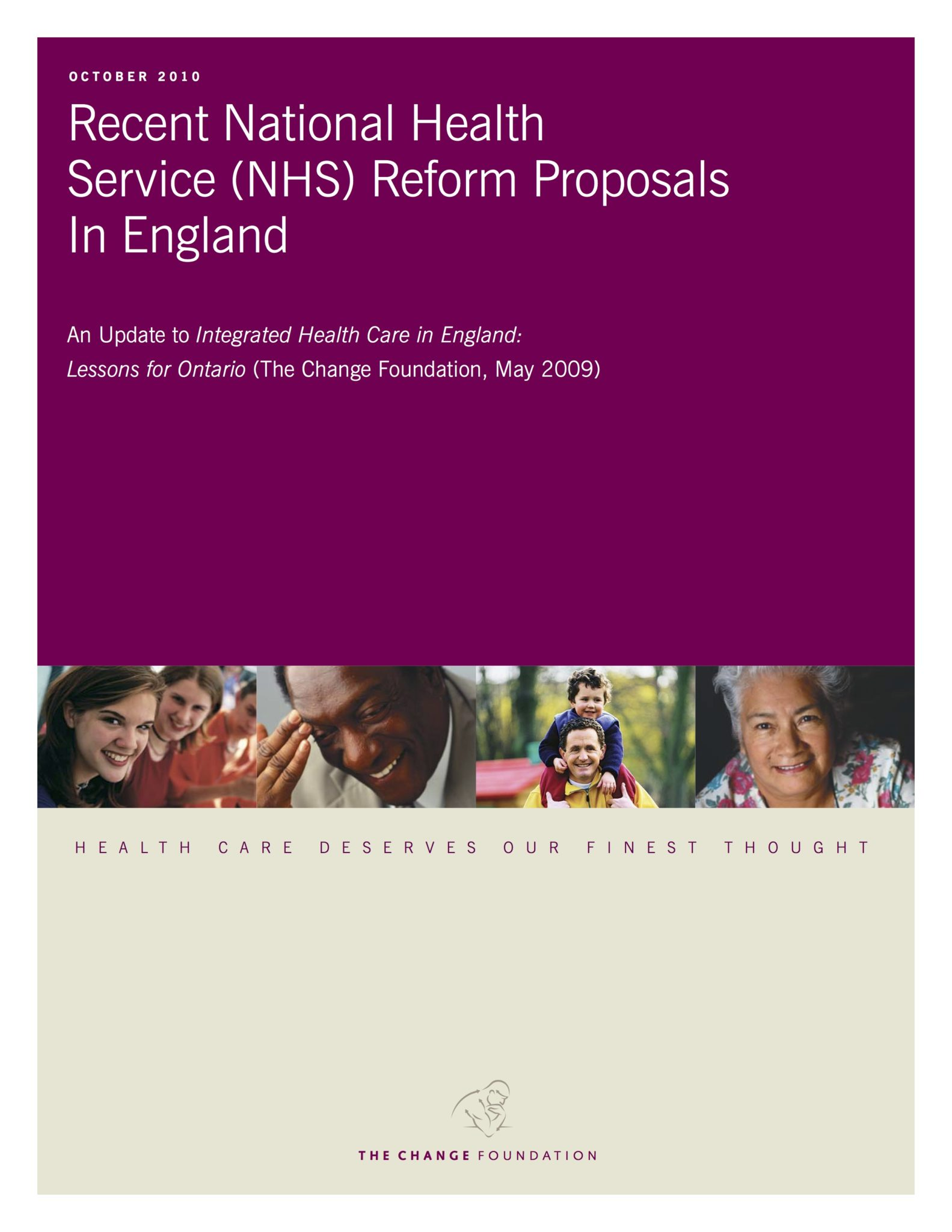 Integrated Healthcare in England: An Update