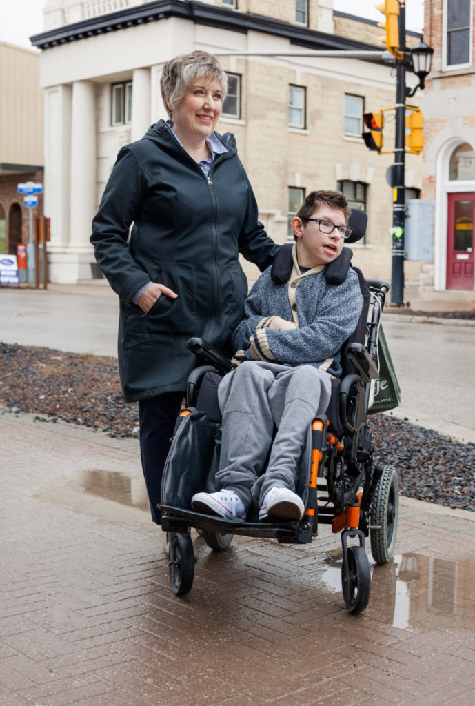Lisa and Chase Cann, family caregiver