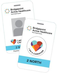Caregiver ID mock-ups