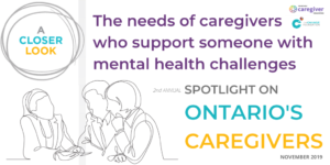 A closer look - Caregivers supporting those with mental health challenges report